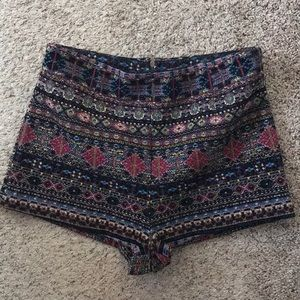 Ecote high waisted embroidered shorts